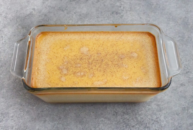Cooked flan