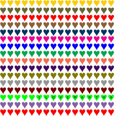 Heart pattern with the words 'I LOVE MARTHA'