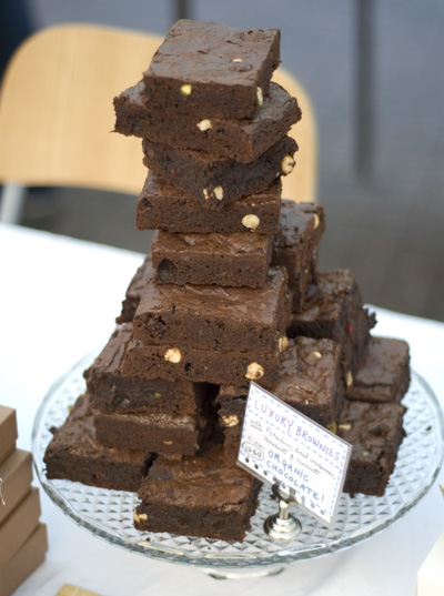Coco&Me - stack of brownies at Broadway Market