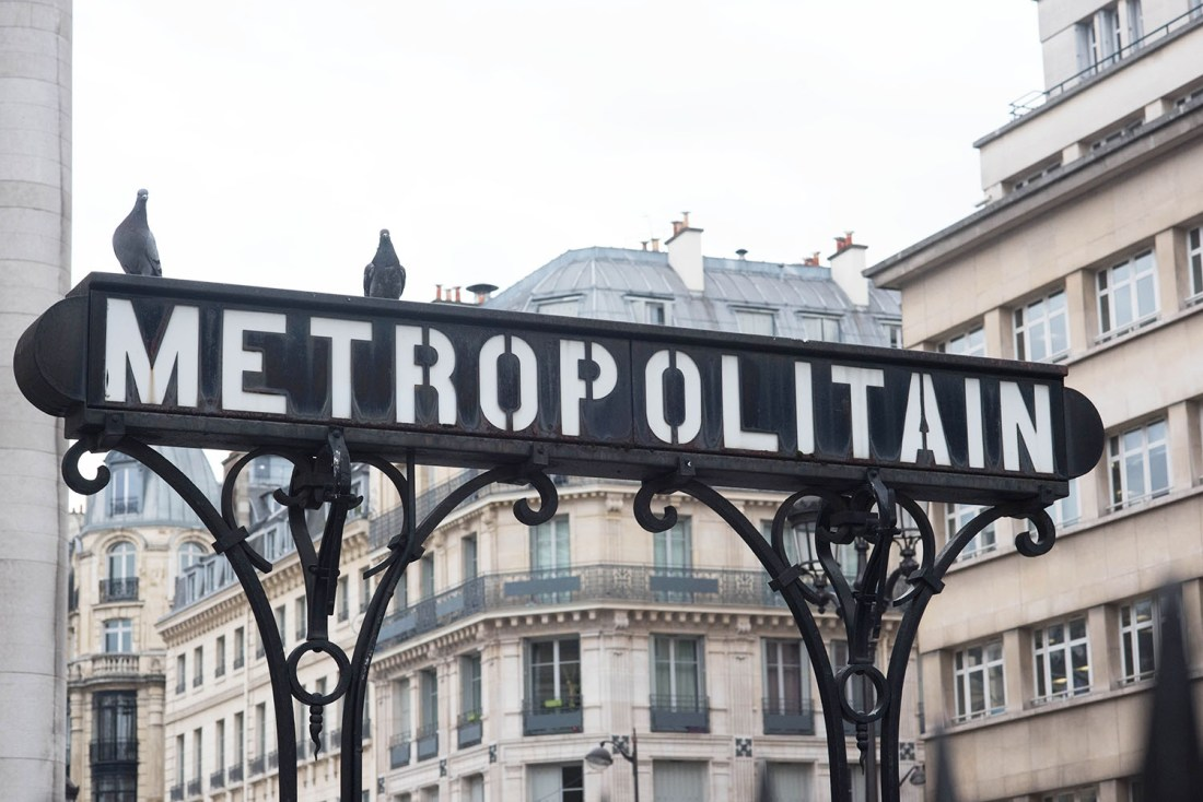 Vintage metropolitan sign outside Bourse metro station in Paris, photographed by Canadian travel blogger Cee Fardoe of Coco & Vera