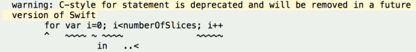 Deprecated C-style for