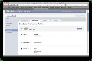 Checking a profile on Dev Program Portal