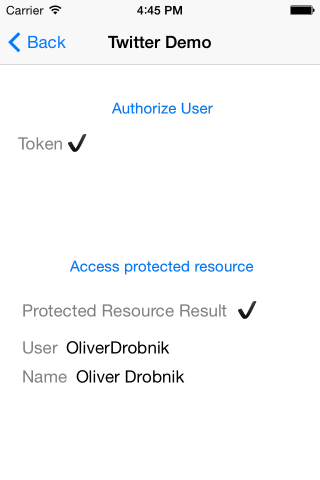 DTOAuth Demo