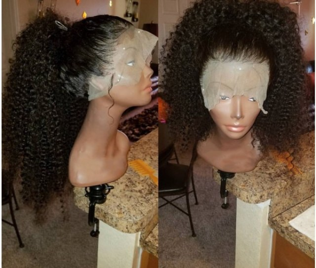 Tonda Pre Plucked Brazilian Virgin Kinky Curly Full Lace Wig