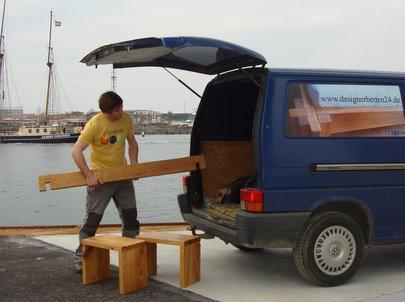 Bett bestellen Betten Massivholz online gnstig kaufen Online Shop