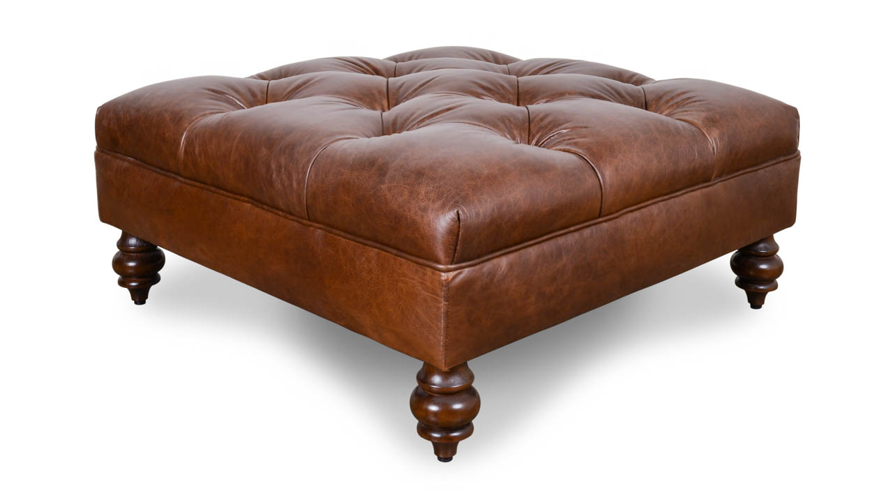 All Leather Benches & Ottomans