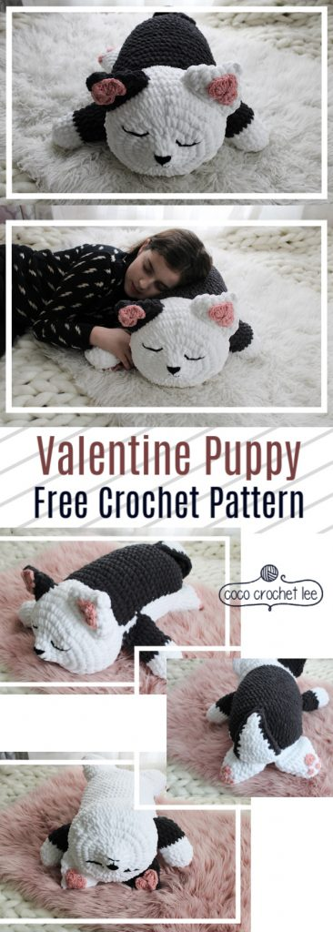 Valentine Puppy crochet pattern by coco crochet lee