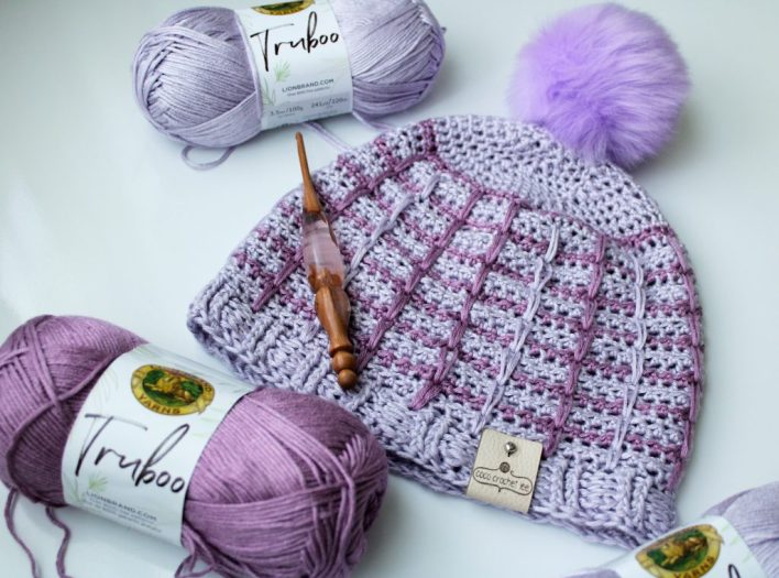 Silky Crocheted Mauve Beanie READY TO SHIP!