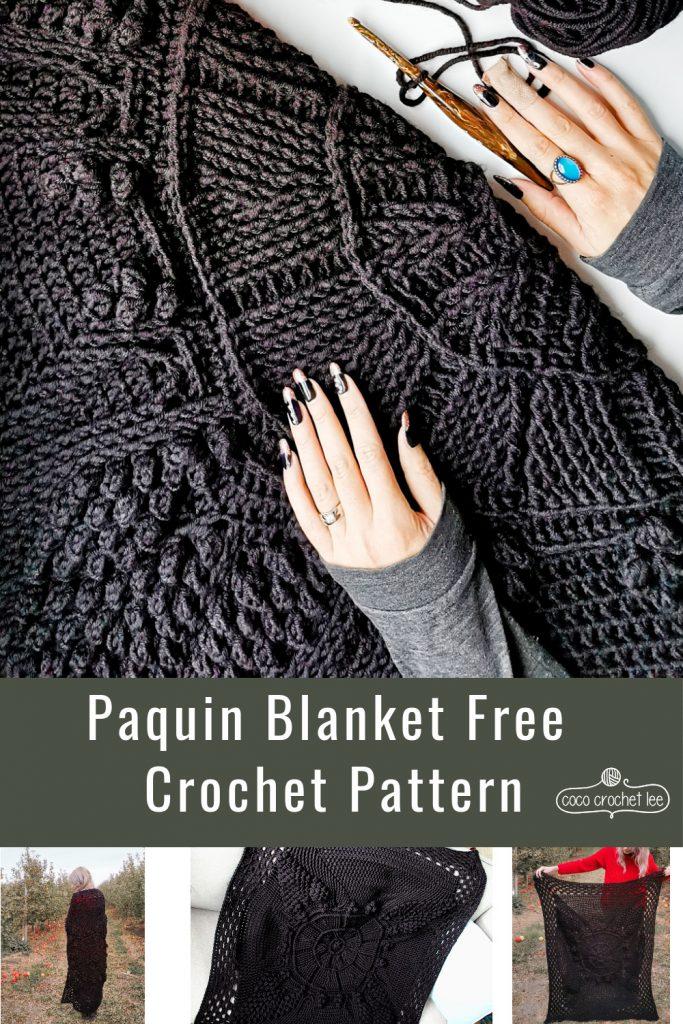 Paquin Blanket Free Crochet Pattern - CoCo Crochet Lee, Lion Brand Yarn