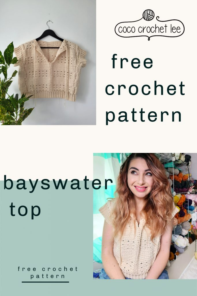 The Bayswater Top - Free Crochet Pattern - CoCo Crochet Lee