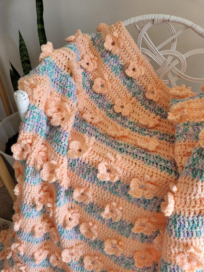 Butterfly Dance Blanket - free crochet pattern - CoCo Crochet Lee - Lion Brand Yarn