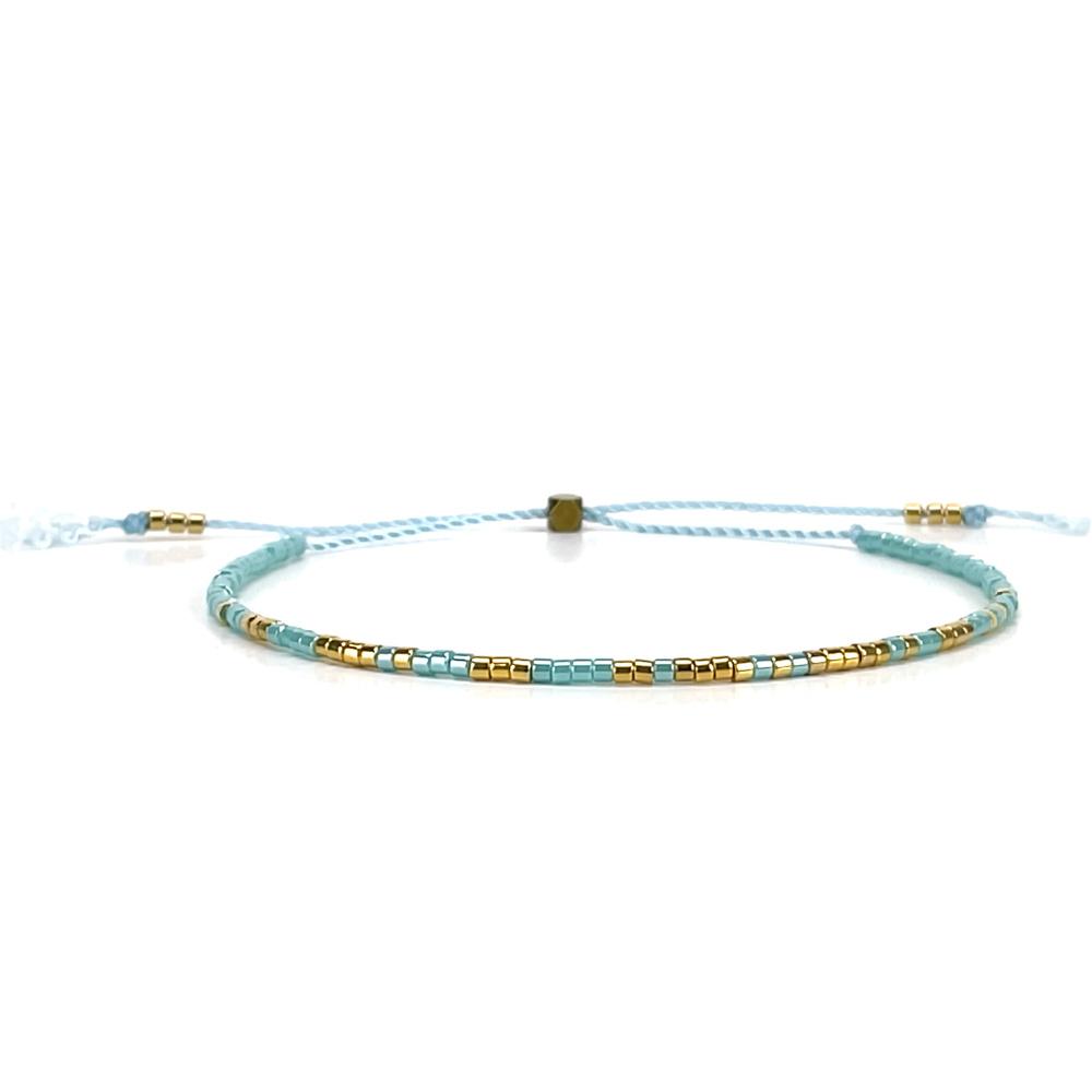 Morse code armbandje - turquoise