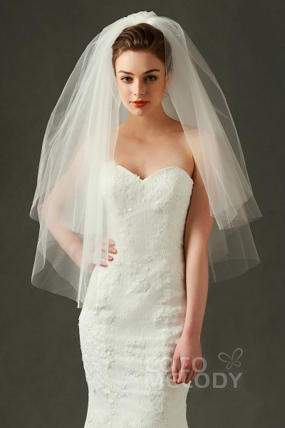 Cocomelody Lace Wedding Veils Cheap Bridal Veils