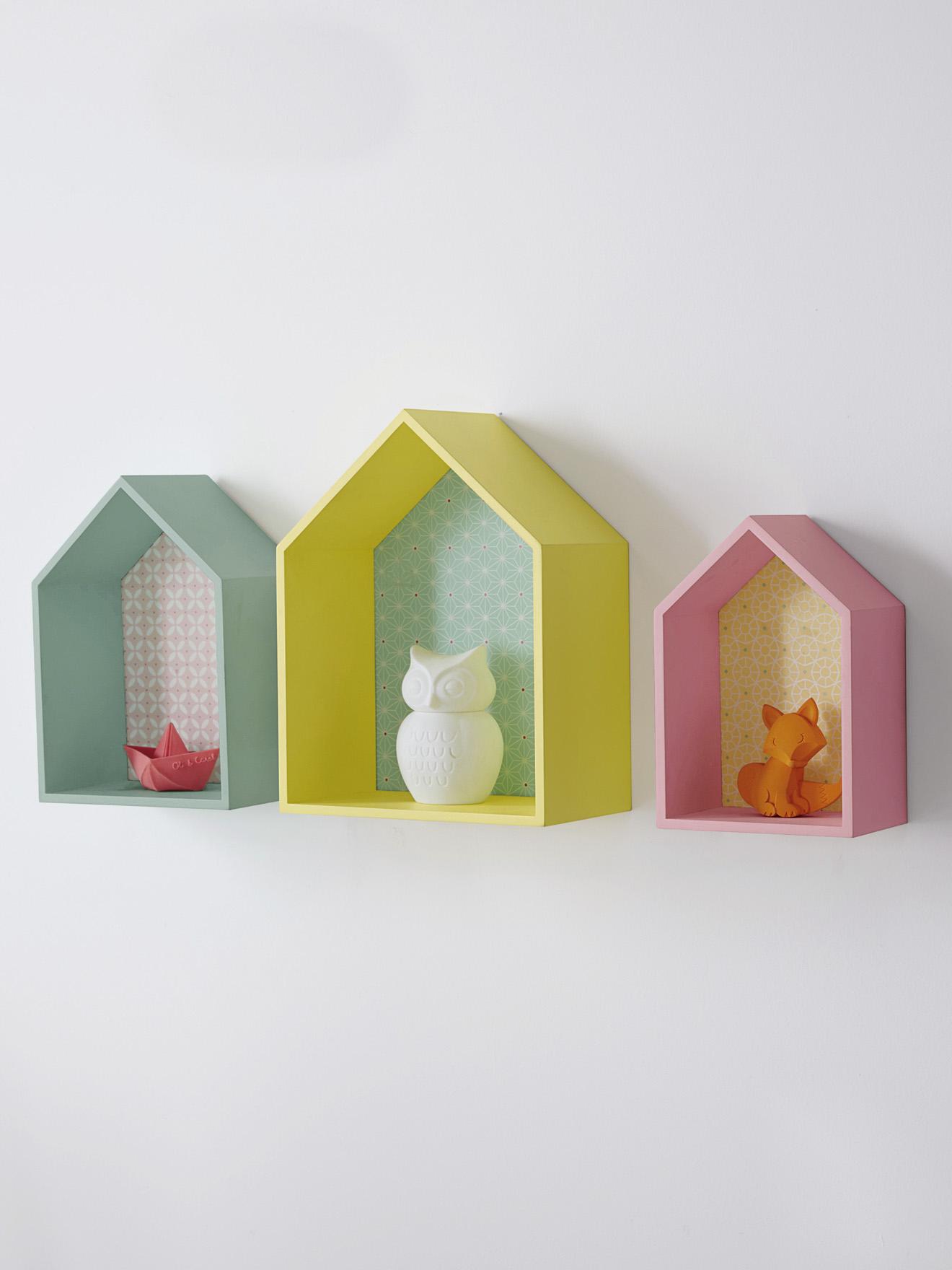 Beautiful Deco Murale Enfant Etagere Pastel Maison With