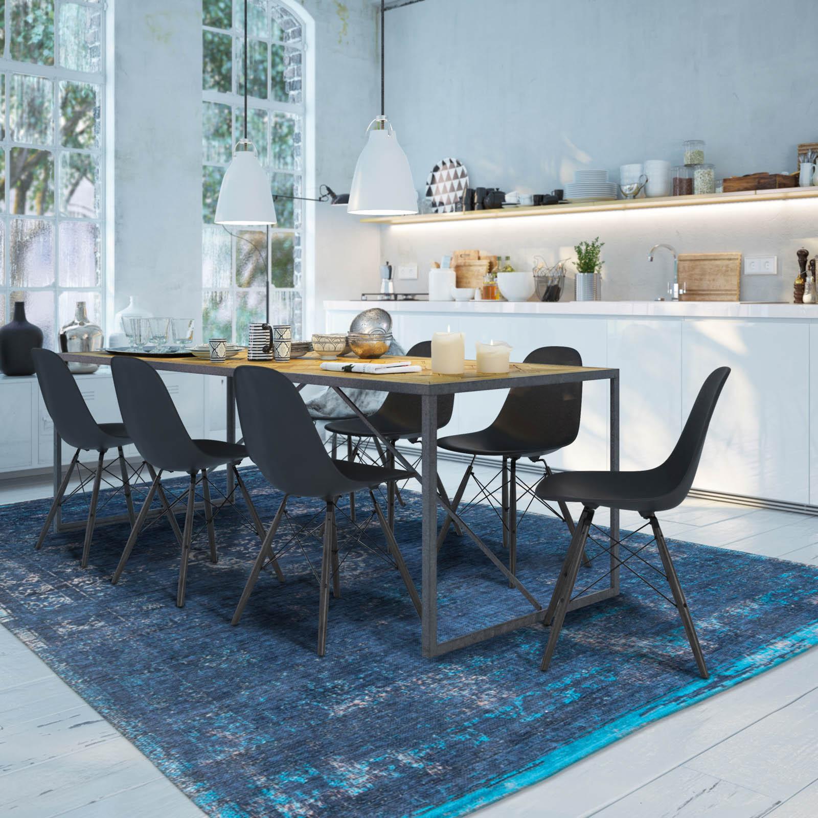 https www cocondedecoration com blog 2018 08 du bleu dans la salle a manger moderne kche in altbau apartment modern kitchen in old loft