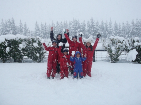 Our children in the snow