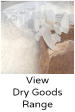 View coconut dry goods   flour, desiccated, unsweetened chips, threads, sugar, creamed coconut, coconut oil and ghee