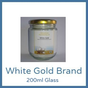Cold Pressed Range - 200ml Glass White Gold