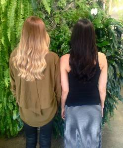 Naturally Beautiful hair -Julia and Libby