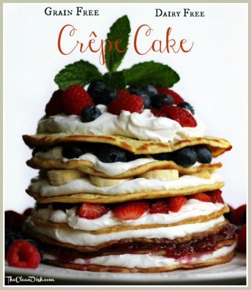 Coconut Flour Crepe Cake with Raw Coconut Oil