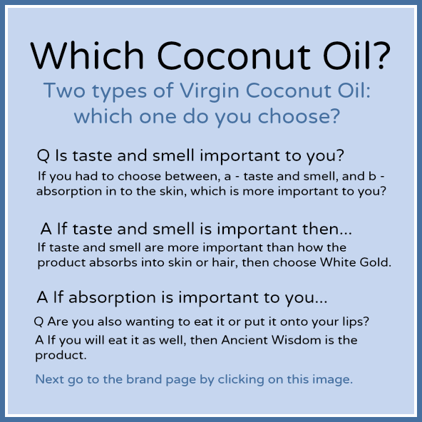 Which Coconut Oil Chooser