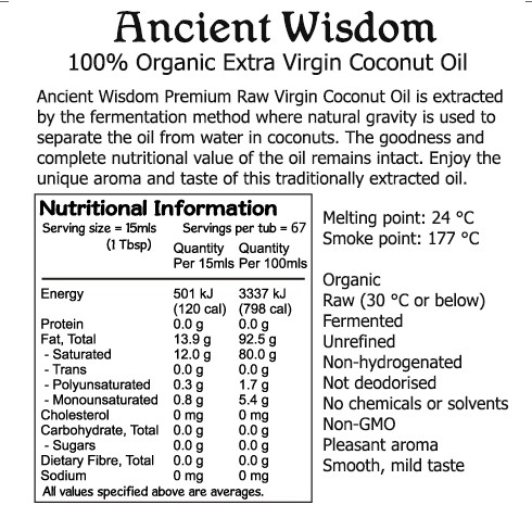 Nutritional Information Ancient Wisdom