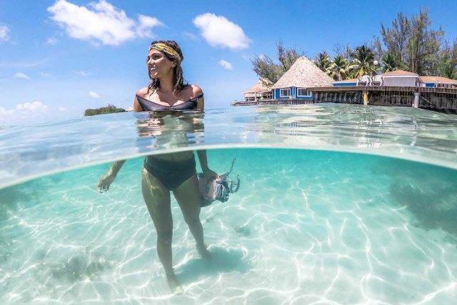 Belize island activities - Snorkel from the Docks