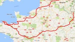 Wohnmobiltour 2017 - Reiseroute