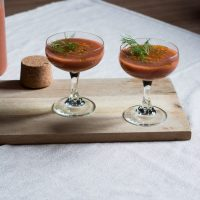 Simple Strawberry Tomato Fennel Gazpacho