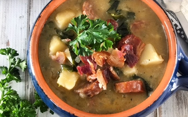 Spicy Sausage & Parsnip Soup