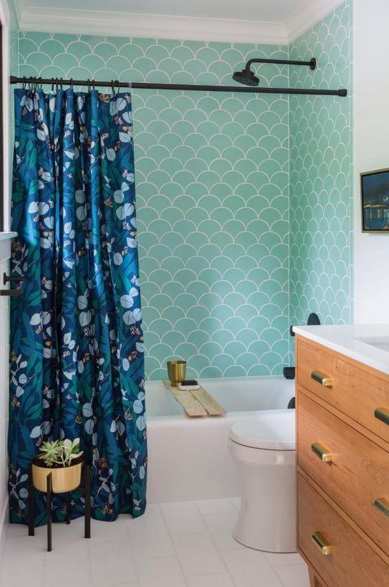7 baths tiled in beautiful sea glass