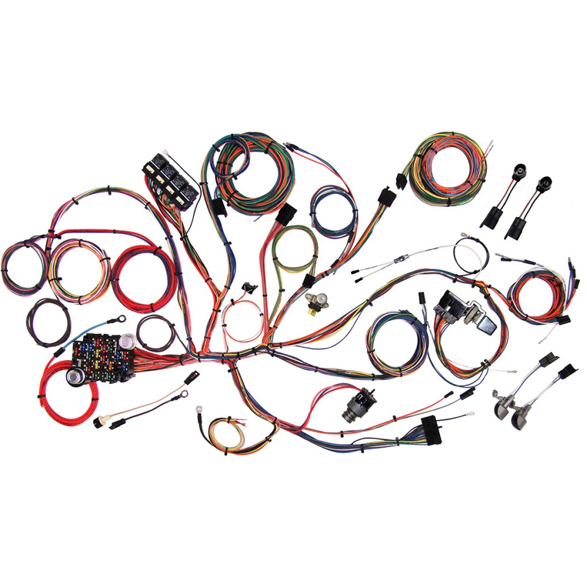 hight resolution of complete wiring harness kit 1964 1966 ford mustang part 510125
