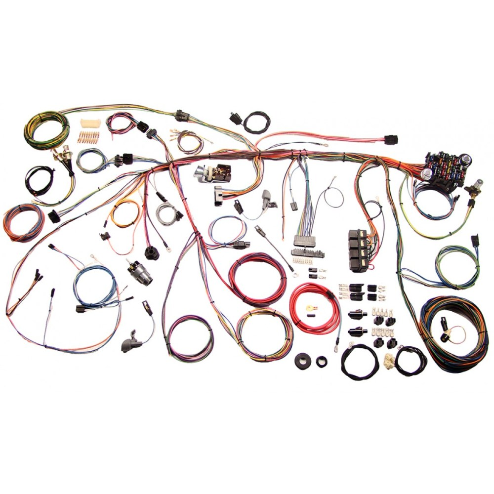 medium resolution of complete wiring harness kit 1969 ford mustang part 510177