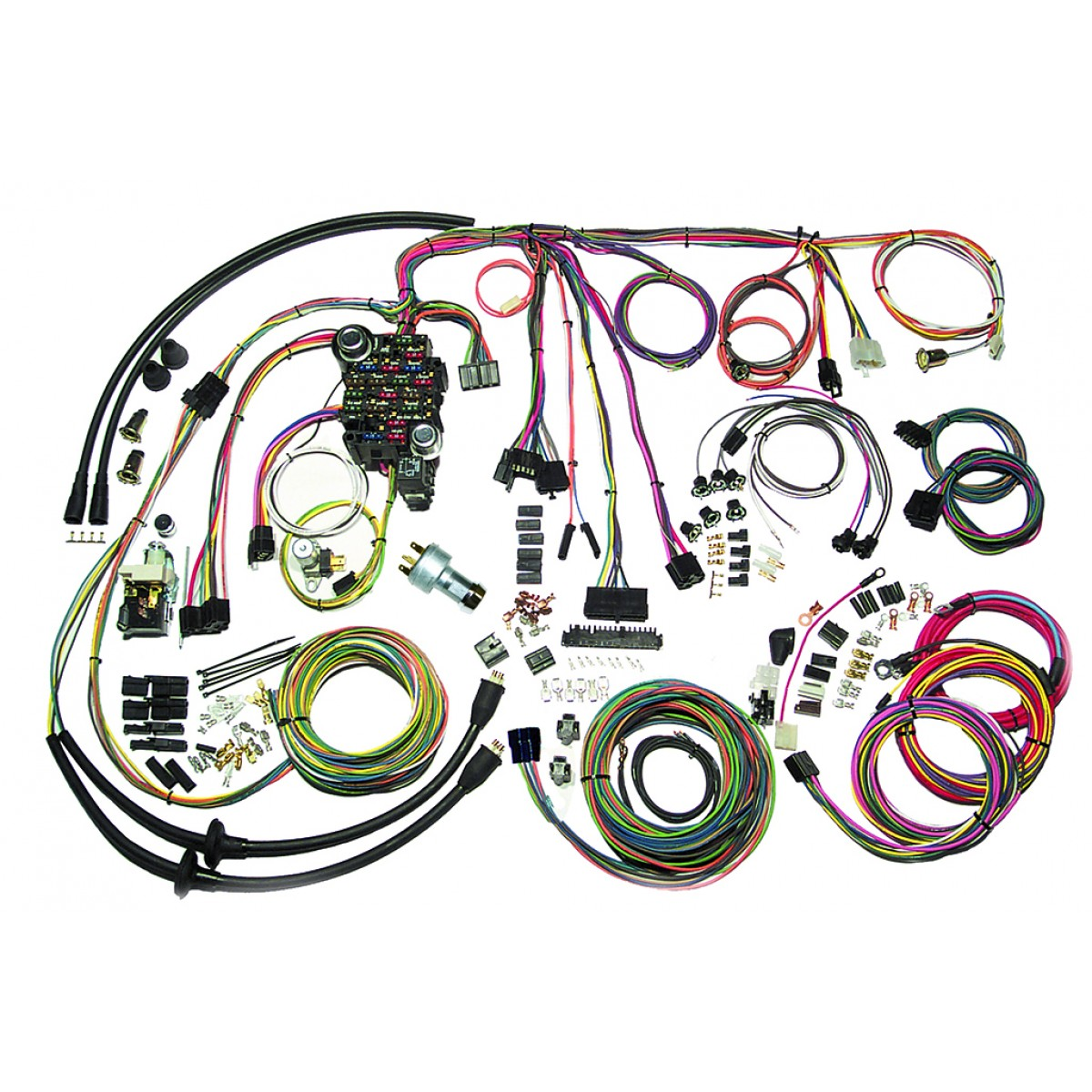 hight resolution of complete wiring harness kit 1957 chevy belair part 500434