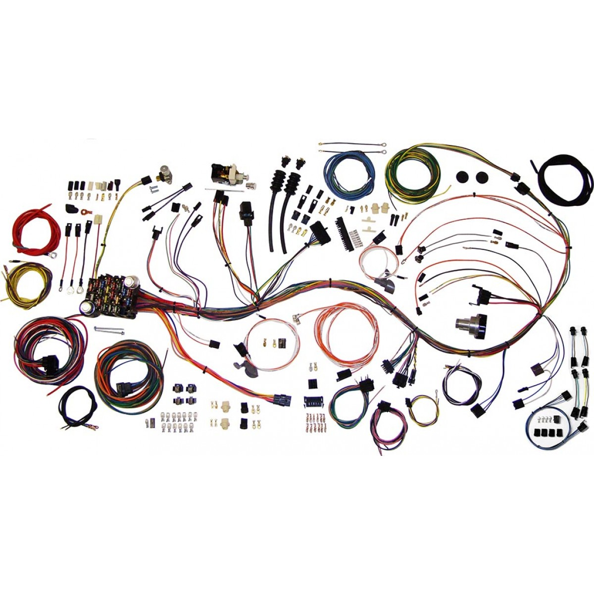 hight resolution of complete wiring harness kit 1967 1968 chevy truck c10 part 510333