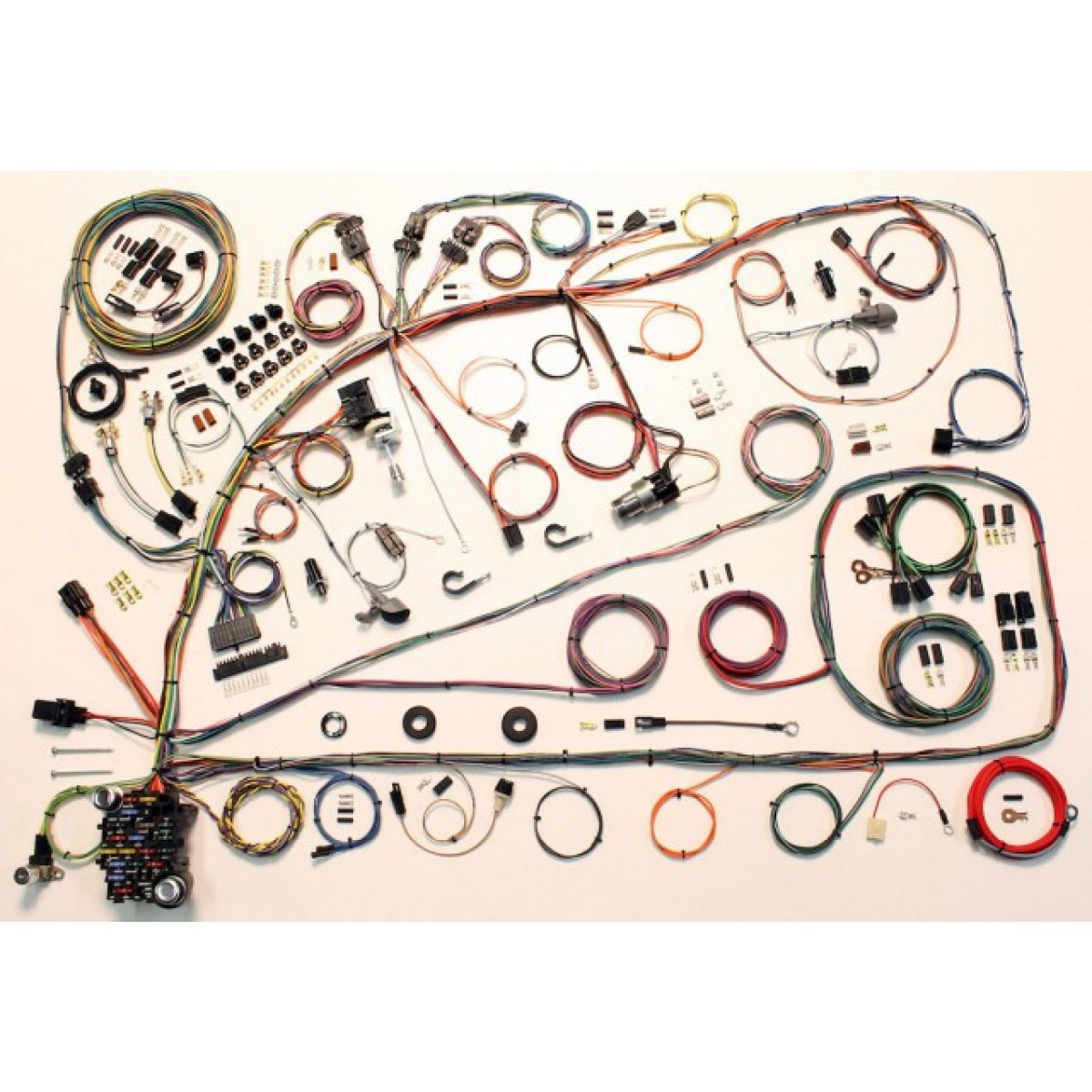 hight resolution of complete wiring harness kit 1966 1967 ford fairlane part 510391
