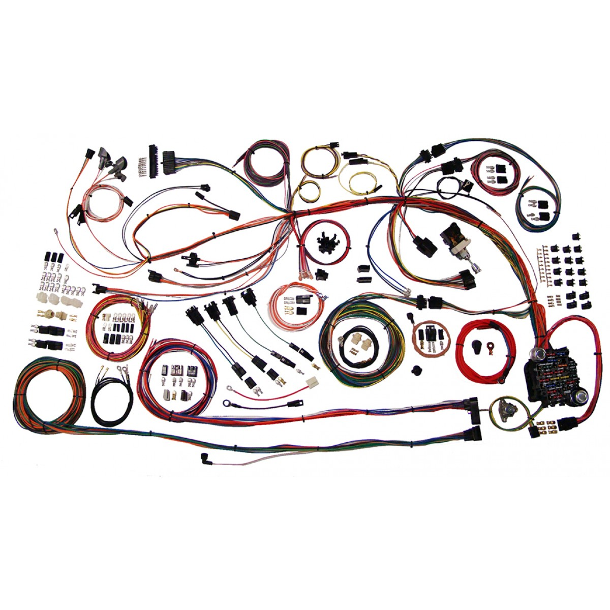hight resolution of complete wiring harness kit 1968 1969 chevelle part 510158