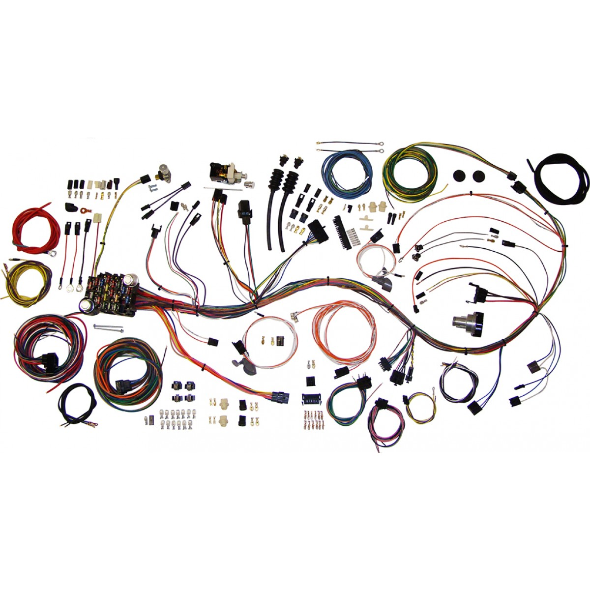 hight resolution of complete wiring harness kit 1969 1972 chevy truck part 510089