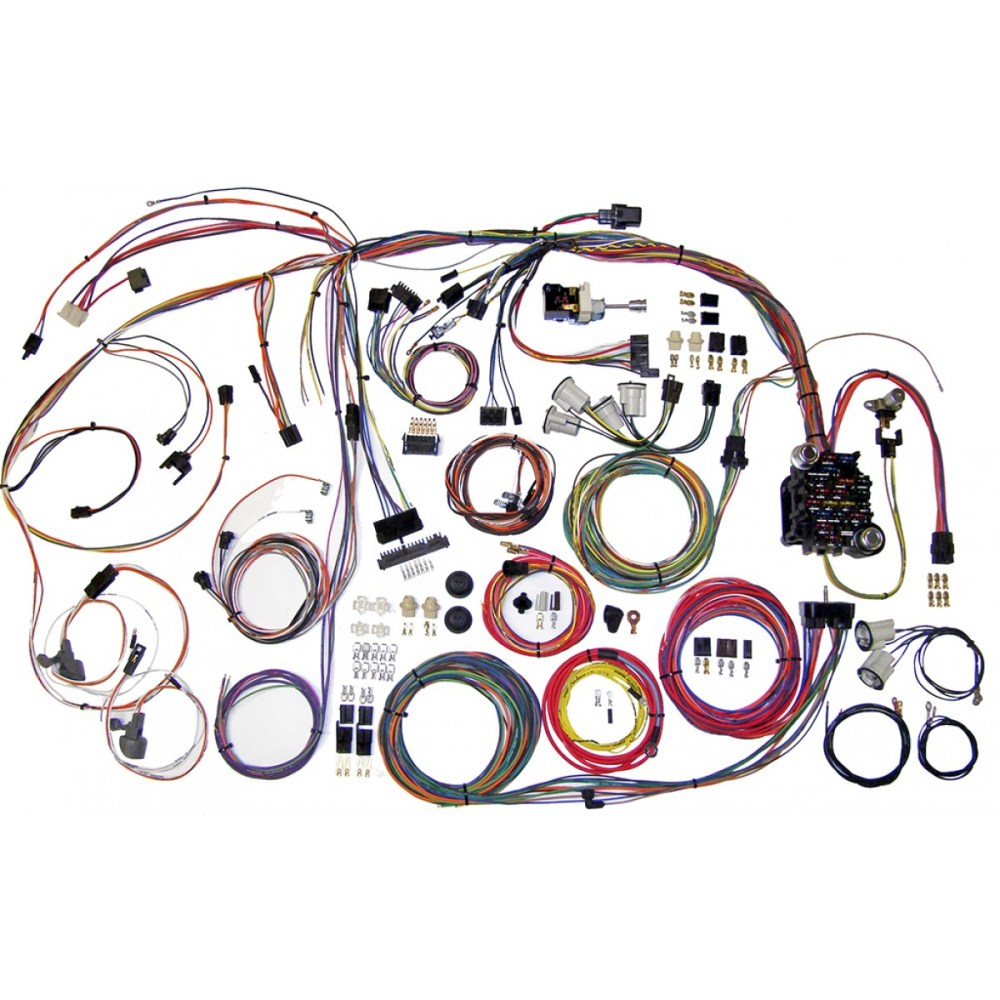 medium resolution of complete wiring harness kit 1970 1972 el camino part 510105
