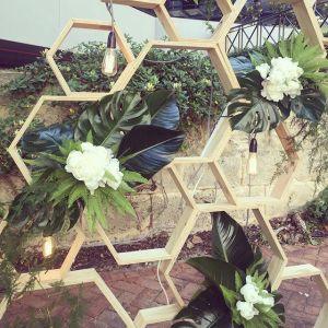 wedding installation at lamont's bishops house