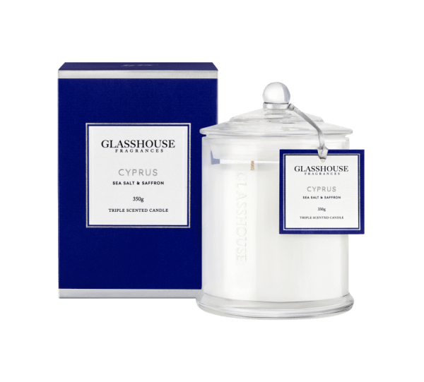 Cyprus 350g Glasshouse Candle