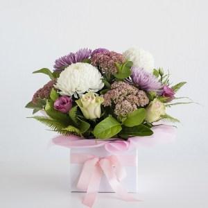 Pink & Whites Box Arrangement