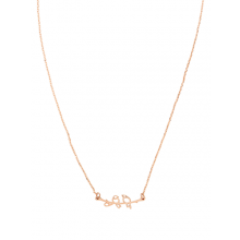 Stunning necklace designed to sit on the collarbone - rose gold love birds by Tiger Tree