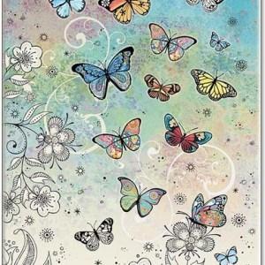 colourful butterflies card