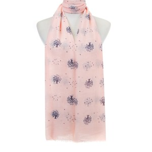 Pink Trees Scarf