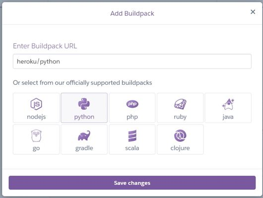 Add buildpack to heroku