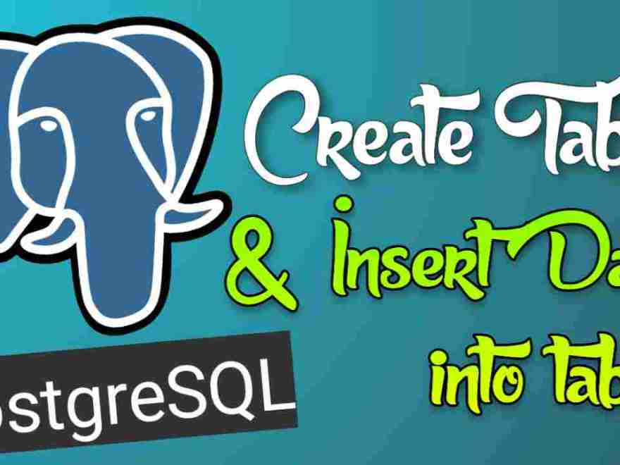 Insert Data into PostgreSQL table