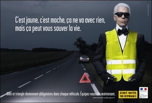 Gilet réfléchissant avec Karl Lagerfeld