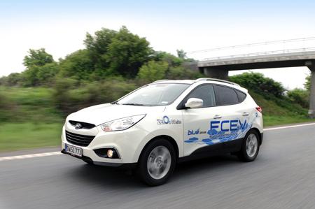 La dernière Hyundai ix35 FCEV, voiture à hydrogène en série