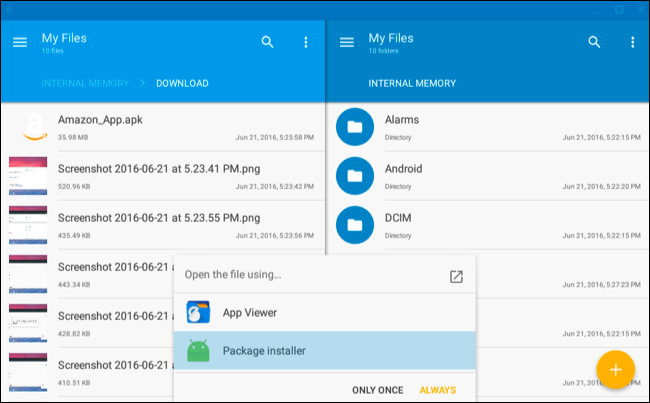 Android package manager install apk